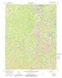Matewan West Virginia Historical topographic map, 1:24000 scale, 7.5 X 7.5 Minute, Year 1954