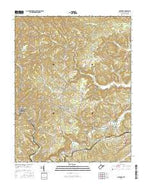 Matoaka West Virginia Current topographic map, 1:24000 scale, 7.5 X 7.5 Minute, Year 2016 from West Virginia Map Store