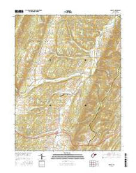 Medley West Virginia Current topographic map, 1:24000 scale, 7.5 X 7.5 Minute, Year 2016