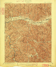 Milton West Virginia Historical topographic map, 1:62500 scale, 15 X 15 Minute, Year 1902