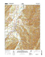 Moorefield West Virginia Current topographic map, 1:24000 scale, 7.5 X 7.5 Minute, Year 2016 from West Virginia Map Store