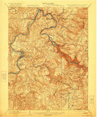 Morgantown West Virginia Historical topographic map, 1:62500 scale, 15 X 15 Minute, Year 1902