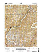 Morgantown North West Virginia Current topographic map, 1:24000 scale, 7.5 X 7.5 Minute, Year 2016 from West Virginia Map Store