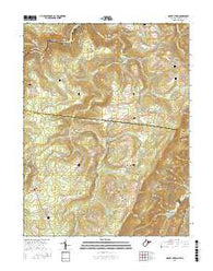 Mount Storm West Virginia Current topographic map, 1:24000 scale, 7.5 X 7.5 Minute, Year 2016