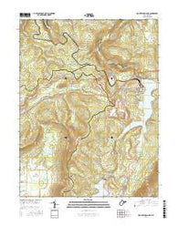 Mount Storm Lake West Virginia Current topographic map, 1:24000 scale, 7.5 X 7.5 Minute, Year 2016