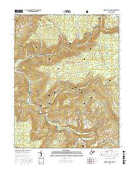 Mozark Mountain West Virginia Current topographic map, 1:24000 scale, 7.5 X 7.5 Minute, Year 2016