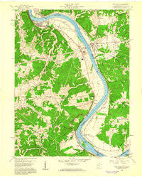 New Haven West Virginia Historical topographic map, 1:24000 scale, 7.5 X 7.5 Minute, Year 1958