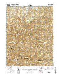 Newburg West Virginia Current topographic map, 1:24000 scale, 7.5 X 7.5 Minute, Year 2016