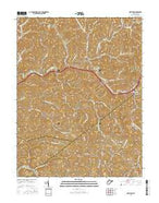 Newton West Virginia Current topographic map, 1:24000 scale, 7.5 X 7.5 Minute, Year 2016 from West Virginia Map Store