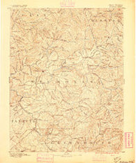 Nicholas West Virginia Historical topographic map, 1:125000 scale, 30 X 30 Minute, Year 1889