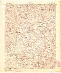 Nicholas West Virginia Historical topographic map, 1:125000 scale, 30 X 30 Minute, Year 1891