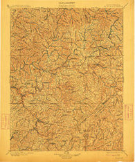 Nicholas West Virginia Historical topographic map, 1:125000 scale, 30 X 30 Minute, Year 1901