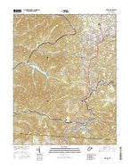Oak Hill West Virginia Current topographic map, 1:24000 scale, 7.5 X 7.5 Minute, Year 2016 from West Virginia Map Store