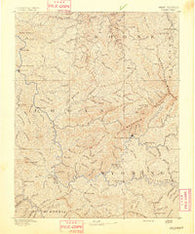 Oceana West Virginia Historical topographic map, 1:125000 scale, 30 X 30 Minute, Year 1891