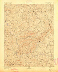 Oceana West Virginia Historical topographic map, 1:125000 scale, 30 X 30 Minute, Year 1893