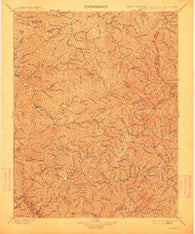 Oceana West Virginia Historical topographic map, 1:125000 scale, 30 X 30 Minute, Year 1898