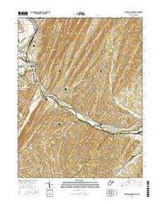 Patterson Creek West Virginia Current topographic map, 1:24000 scale, 7.5 X 7.5 Minute, Year 2016 from West Virginia Maps Store