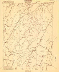 Petersburg West Virginia Historical topographic map, 1:48000 scale, 15 X 15 Minute, Year 1920