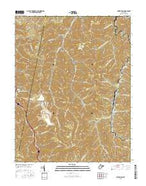Powellton West Virginia Current topographic map, 1:24000 scale, 7.5 X 7.5 Minute, Year 2016 from West Virginia Map Store