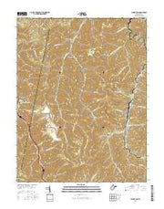 Powellton West Virginia Current topographic map, 1:24000 scale, 7.5 X 7.5 Minute, Year 2016 from West Virginia Maps Store
