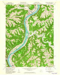 Powhatan Point Ohio Historical topographic map, 1:24000 scale, 7.5 X 7.5 Minute, Year 1960