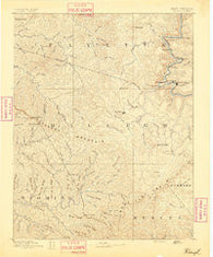 Raleigh West Virginia Historical topographic map, 1:125000 scale, 30 X 30 Minute, Year 1891