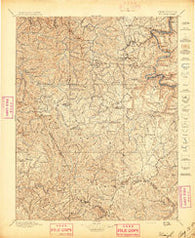 Raleigh West Virginia Historical topographic map, 1:125000 scale, 30 X 30 Minute, Year 1897