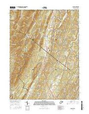 Ridge West Virginia Current topographic map, 1:24000 scale, 7.5 X 7.5 Minute, Year 2016 from West Virginia Maps Store