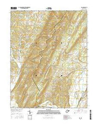 Rig West Virginia Current topographic map, 1:24000 scale, 7.5 X 7.5 Minute, Year 2016