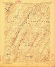 Romney West Virginia Historical topographic map, 1:125000 scale, 30 X 30 Minute, Year 1891