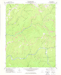 Samp West Virginia Historical topographic map, 1:24000 scale, 7.5 X 7.5 Minute, Year 1977
