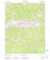 Scott Depot West Virginia Historical topographic map, 1:24000 scale, 7.5 X 7.5 Minute, Year 1958