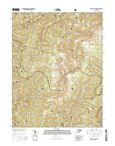 Sinks of Gandy West Virginia Current topographic map, 1:24000 scale, 7.5 X 7.5 Minute, Year 2016