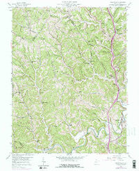 Sissonville West Virginia Historical topographic map, 1:24000 scale, 7.5 X 7.5 Minute, Year 1958