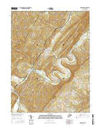 Springfield West Virginia Current topographic map, 1:24000 scale, 7.5 X 7.5 Minute, Year 2016 from West Virginia Map Store