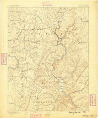 St. George West Virginia Historical topographic map, 1:125000 scale, 30 X 30 Minute, Year 1886