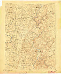 St. George West Virginia Historical topographic map, 1:125000 scale, 30 X 30 Minute, Year 1891