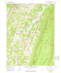 Stotlers Crossroads West Virginia Historical topographic map, 1:24000 scale, 7.5 X 7.5 Minute, Year 1958