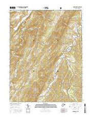 Sugar Grove West Virginia Current topographic map, 1:24000 scale, 7.5 X 7.5 Minute, Year 2016 from West Virginia Maps Store