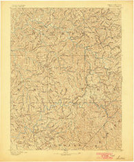Sutton West Virginia Historical topographic map, 1:125000 scale, 30 X 30 Minute, Year 1893