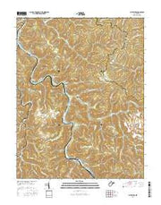 Sylvester West Virginia Current topographic map, 1:24000 scale, 7.5 X 7.5 Minute, Year 2016 from West Virginia Maps Store