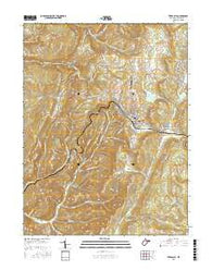 Terra Alta West Virginia Current topographic map, 1:24000 scale, 7.5 X 7.5 Minute, Year 2016