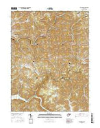 Thornton West Virginia Current topographic map, 1:24000 scale, 7.5 X 7.5 Minute, Year 2016 from West Virginia Map Store