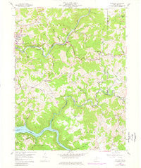 Thornton West Virginia Historical topographic map, 1:24000 scale, 7.5 X 7.5 Minute, Year 1958