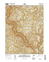 Valley Point West Virginia Current topographic map, 1:24000 scale, 7.5 X 7.5 Minute, Year 2016