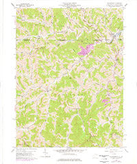 Wadestown West Virginia Historical topographic map, 1:24000 scale, 7.5 X 7.5 Minute, Year 1958