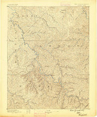 Warfield West Virginia Historical topographic map, 1:125000 scale, 30 X 30 Minute, Year 1887