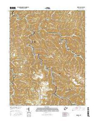Wharton West Virginia Current topographic map, 1:24000 scale, 7.5 X 7.5 Minute, Year 2016
