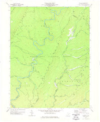 Wildell West Virginia Historical topographic map, 1:24000 scale, 7.5 X 7.5 Minute, Year 1977