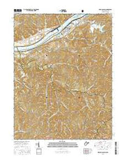 Willow Island West Virginia Current topographic map, 1:24000 scale, 7.5 X 7.5 Minute, Year 2016 from West Virginia Maps Store